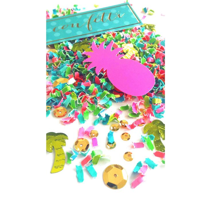 Pineapple Confetti. Pineapple Table Scatter. Tropical Confetti. Beach Party. Luau Party. Hawaiian. Luau Party. Pineapple Party by ConfettiBashStudio on Etsy https://www.etsy.com/listing/506306790/pineapple-confetti-pineapple-table