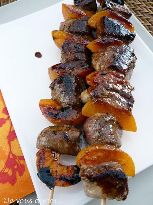 Les 25 meilleures id es de la cat gorie brochettes sur pinterest recettes de brochette - Idee recette barbecue ...