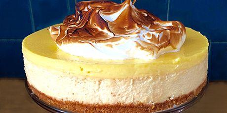 Meyer Lemon Meringue Cheesecake