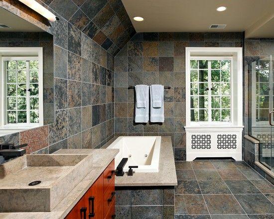 Superior Slate Bathroom Ideas Design, Pictures, Remodel, Decor And Ideas