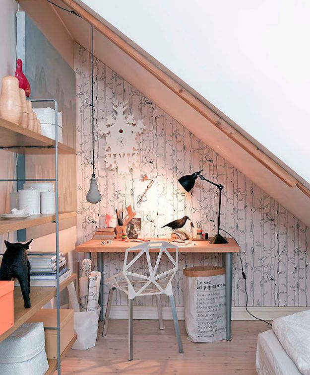 Photos trine thorsen, Styling kirsten visdal: Study Nooks, Offices Spaces, Work Spaces, Workspaces, Desks, Under Stairs, Small Spaces, Offices Nooks, Home Offices