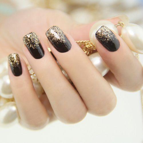 Black and gold glitter !