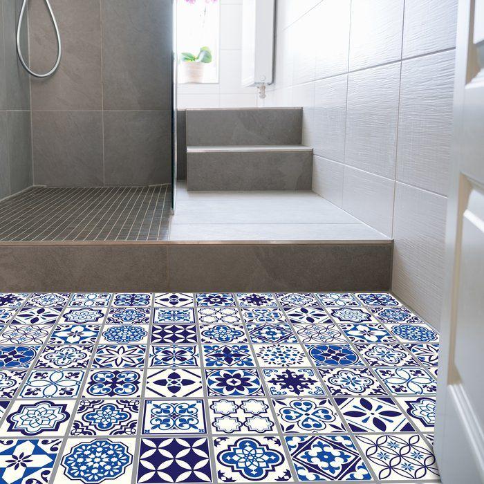 Waller 120x60 Cm Mosaic Tile In Blue White In 2020 Moroccan Blue Moroccan Tile Bathroom Mosaic Tiles