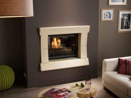 32 best Cheminée images on Pinterest | Fire places, Corner fireplace ...