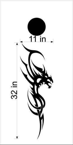 09 Dragons Mythical Fire Breathing Cornhole Board Decals Stickers Graphics Bean Bag Toss Backyard Tailgate Wedding Anniversary Games