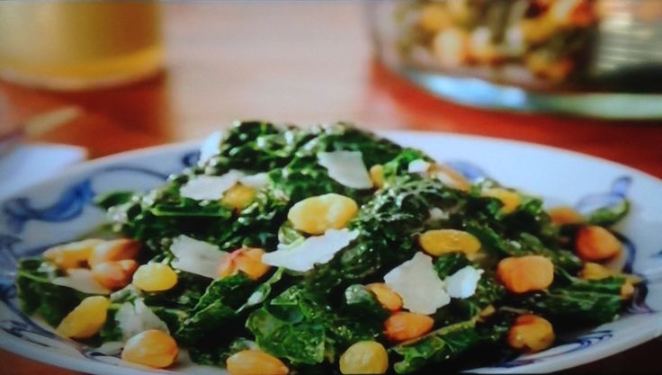 Tuscan Kale Salad with Anchovy Dressing recipe from Valerie Bertinelli