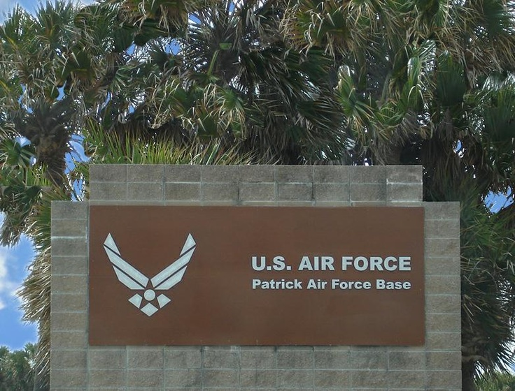 Patrick AFB, Is located between Satellite Beach and Cocoa