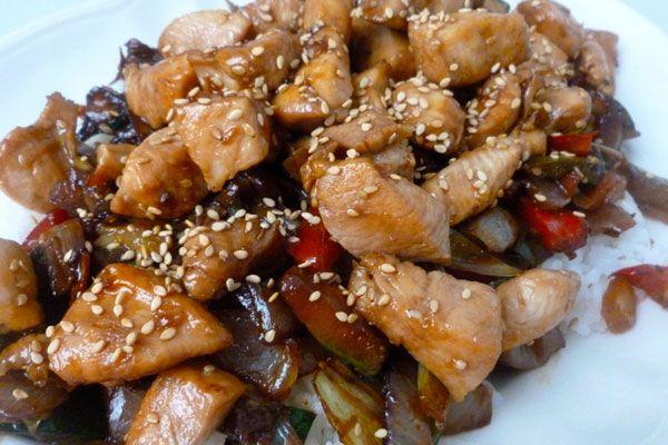 Pollo con verduras y arroz jazmín – receta