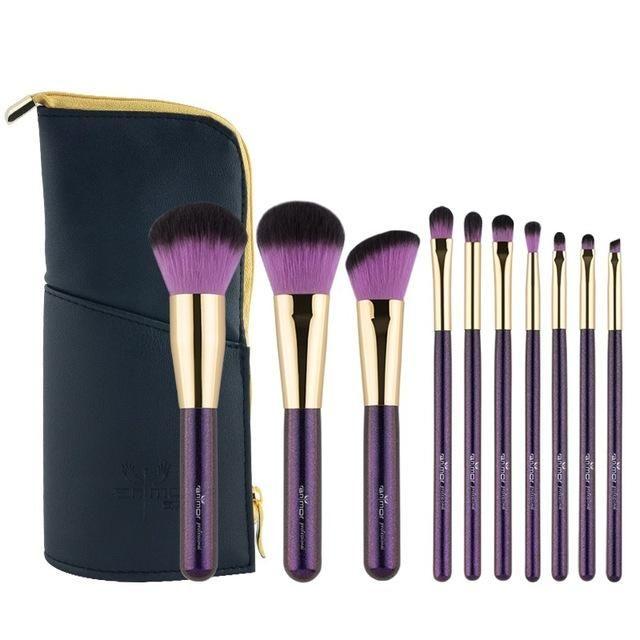 Luxury Makeup Brushes Kit Wood Handle Cosmetic Brushes Makeup Brush Kit It Cosmetics Brushes Makeup Brush Set Professional