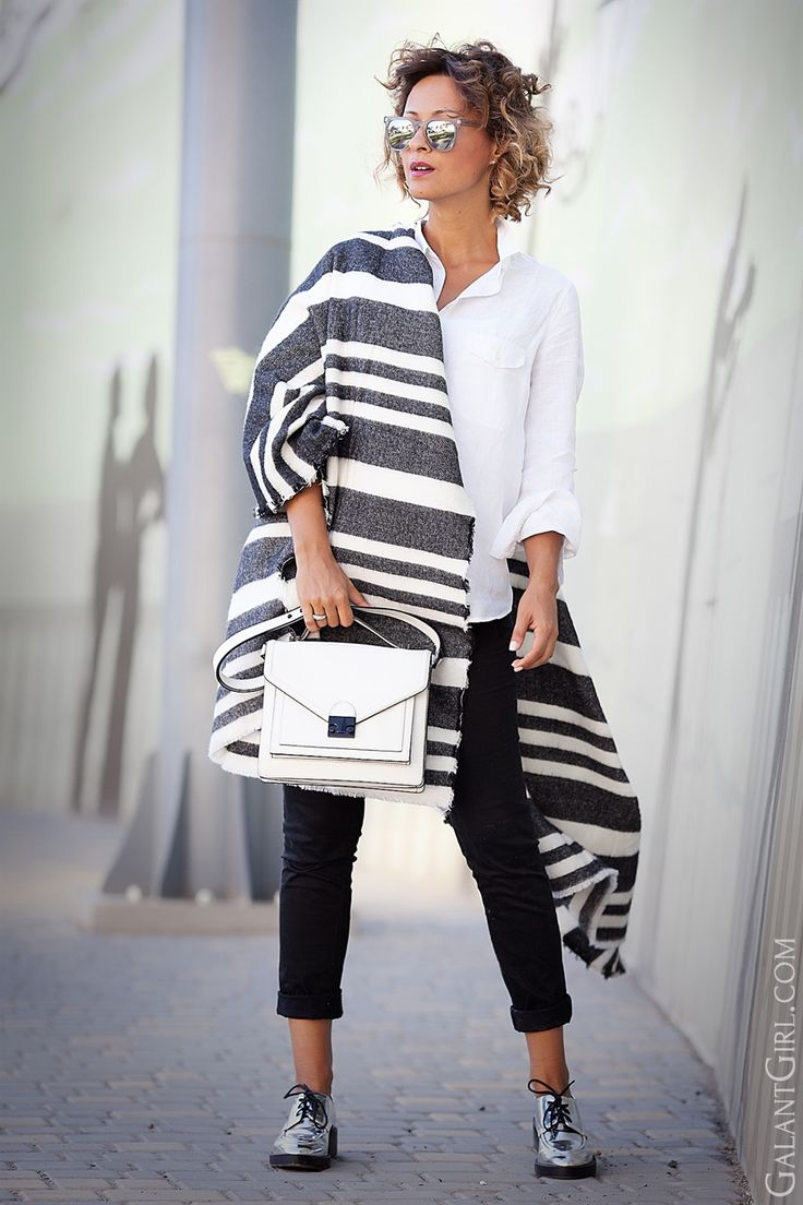 striped oversized scarf-loeffler randall satchel outfit