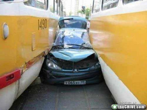 crazy car crashes 26 Car crashes that beg the question, how did they do that? (31 Photos)
