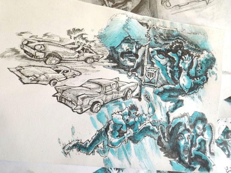 Comic Book studies, Lazzaro/ Edu on ArtStation at https://www.artstation.com/artwork/JDKJv