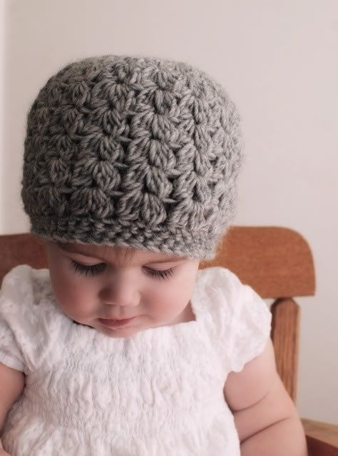 puff stitch beanie - I need to learn to crochet!