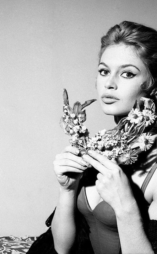 Brigitte Bardot during the filming of A Woman Like Satan, 1958