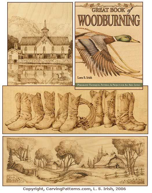 Pyrography Site with Free Patterns | Free Woodburning Patterns