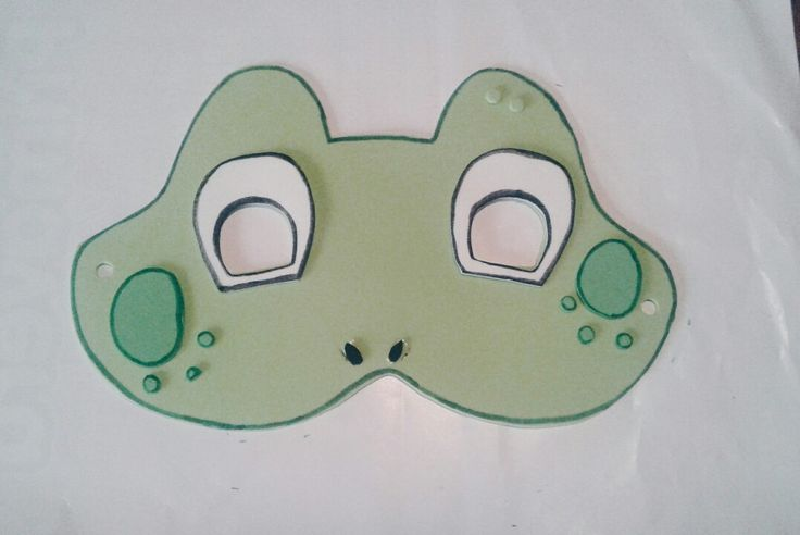 Frog mask for kids