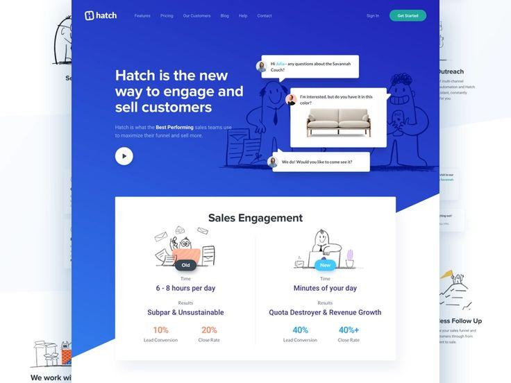 Hatch App Website Redesign Website Redesign Web Layout Design Interactive Design