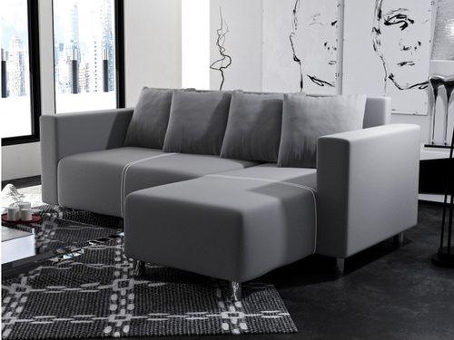 Univerzálna moderná rohová sedačka vhodná aj do menších priestorov s príťažlivým moderným dizajnom. Sedacia časť má výrazné prešívanie. Sedačka stojí na hrubších kovových nohách. V prípade potreby je možné sedačku rozložiť a vytvoriť tak priestor na príležitostné spanie. Pravé prevedenie sedačky.