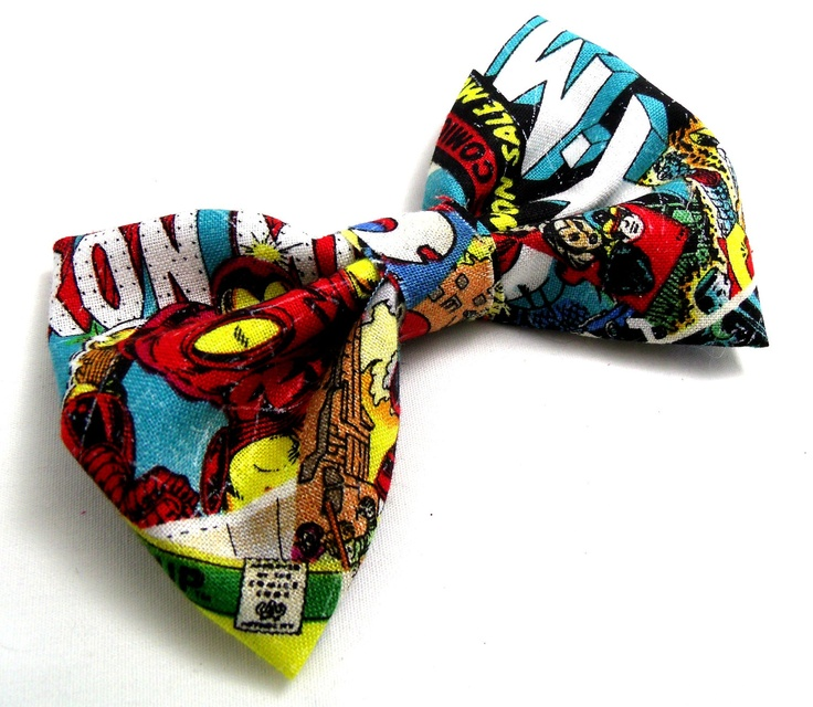 Marvel Comic Book Bow tie. $5.00, via Etsy. Bow ties are cool. http://ebay.to/1MkkL4b