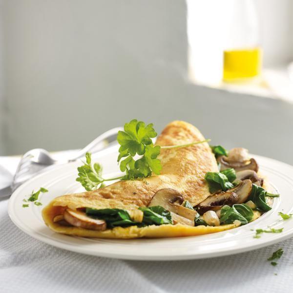 Spinat-Champignon-Omelette | Weight Watchers, Frühstück