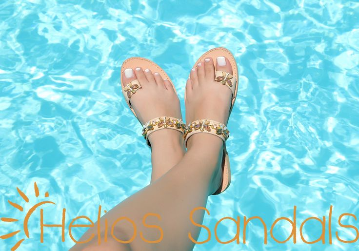 JEWELED LEATHER SANDALS by HELIOS SANDAL'S LUXURY EDITION | code: DT 1283.  Embellished with crystal beads and rhinestones in light peach and white color. Made of genuine leather and non-skid sole.Totally crafted by hand.  Elegant and Lightweight like butterflies!! Don't waste time, try it out now! Available in sizes 36 - 41 (EU).