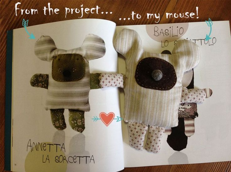My mouse, model from 'pupazzetti da cucire' Marie Claire edition #diy #sewing #marieclaire