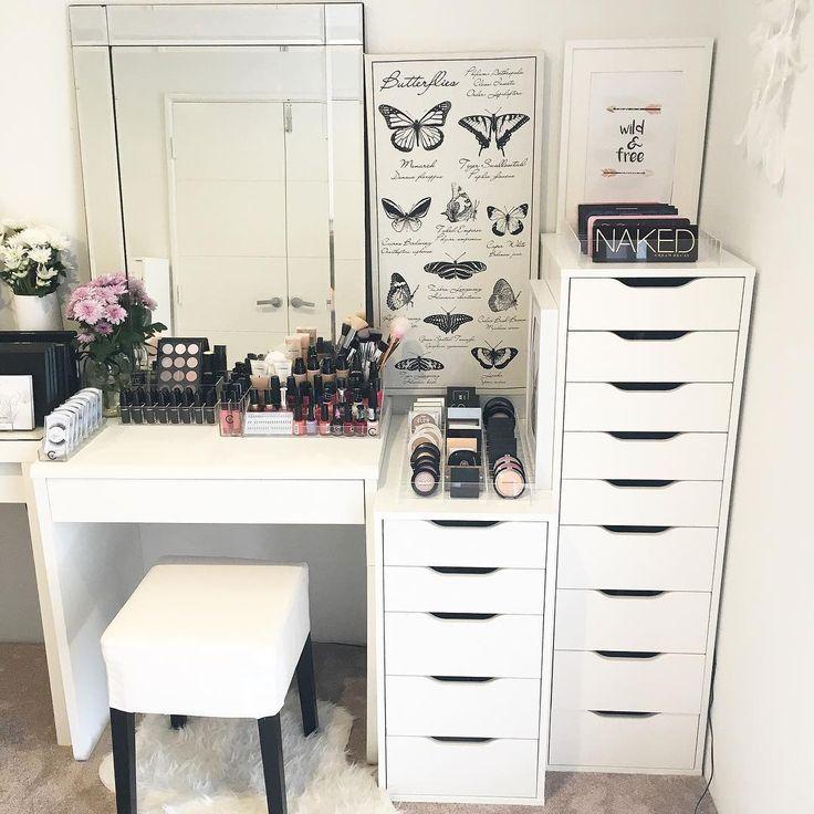 Bedroom Sians  Vanity Vanityroom  Ikea Makeup Vanity  Makeup Vanity Organization  Vanity Closet  Makeup Vanities  Makeupvanity  Vanity Goals  Beauty Room. 1000  ideas about Ikea Makeup Vanity on Pinterest   Makeup