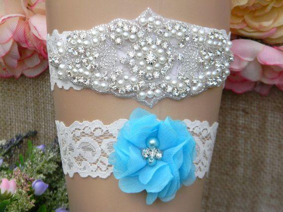 Wedding Garter Set Bridal By PrettyCountryBridal