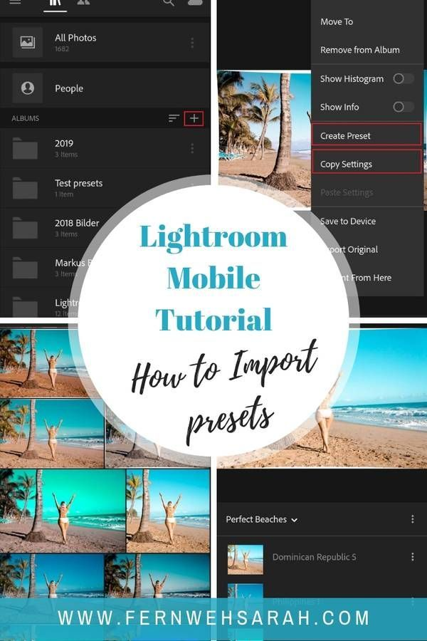 How To Easily Import And Use Mobile Lightroom Presets Fernwehsarah Adobe Lightroom Presets Lightroom Lightroom Presets