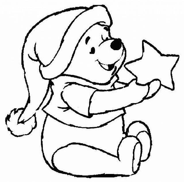 Disegni Da Colorare Winnie Pooh Natale.Winnie The Pooh Con Stella Disegni Da Colorare Disegni Disney Disegni Simpatici