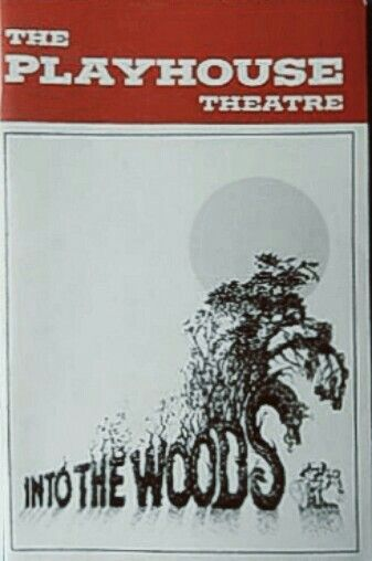 """Theatre Programme from the Premiere Delaware Production of the Stephen Sondheim / James Lapine' musical """"Into the Woods,"""" which performed from June 13 thru 18, 1989 at the Playhouse Theatre on Rodney Square."""