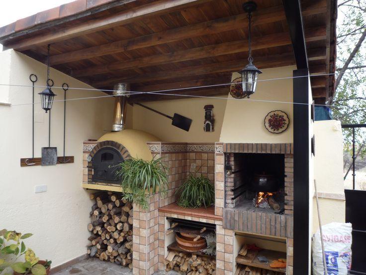 25 best ideas about chimeneas con horno on pinterest - Chimeneas de barro ...