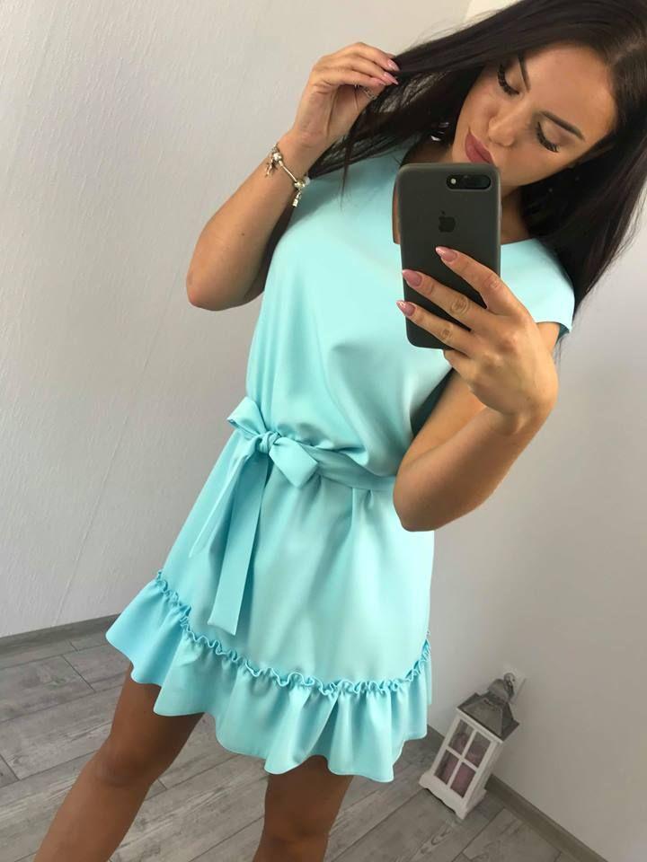 5cbf3055d9da Krásne šaty na leto modré