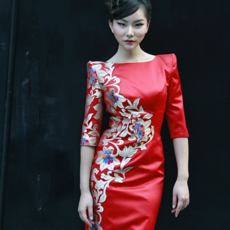14 best images about fashion asian inspired on pinterest for Chinese style wedding dress