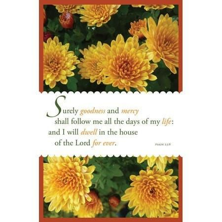 Goodness and Mercy (Psalm 23:6, KJV) Bulletins, 100