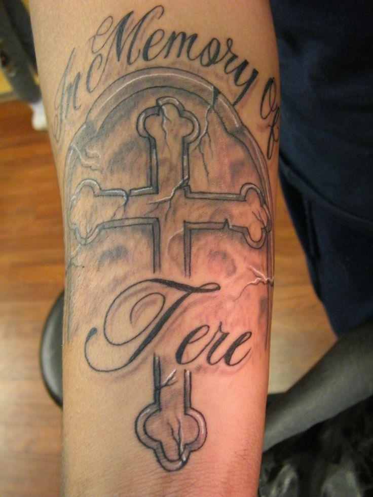 Rip Cross Tattoo Designs