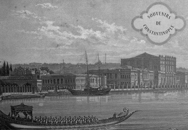 [Ottoman Empire] Imperial Barge, Istanbul, 19th Century (Saltanat Kayığı)