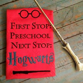 Harry Potter Inspired Hogwarts Preschool Embroidery Design