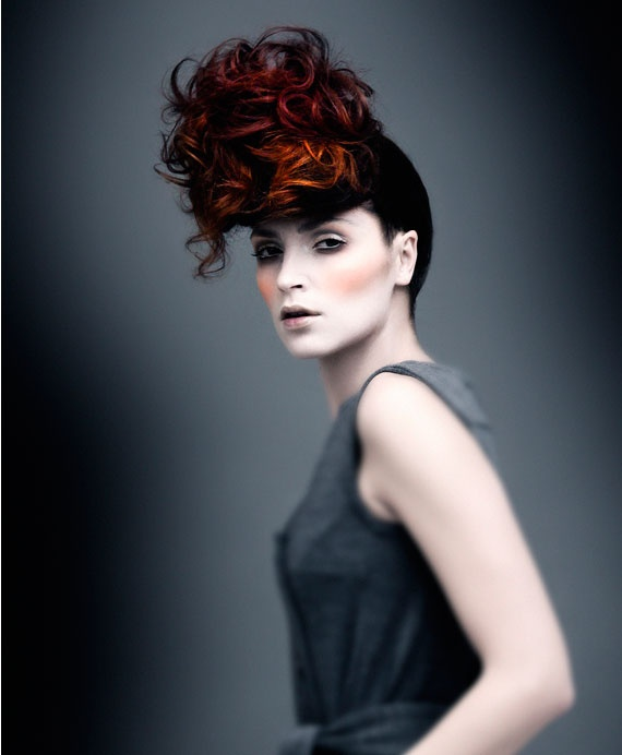 Long Upstyle with dimensional red color.  Learn more about #haircolor at #emersonsalon.