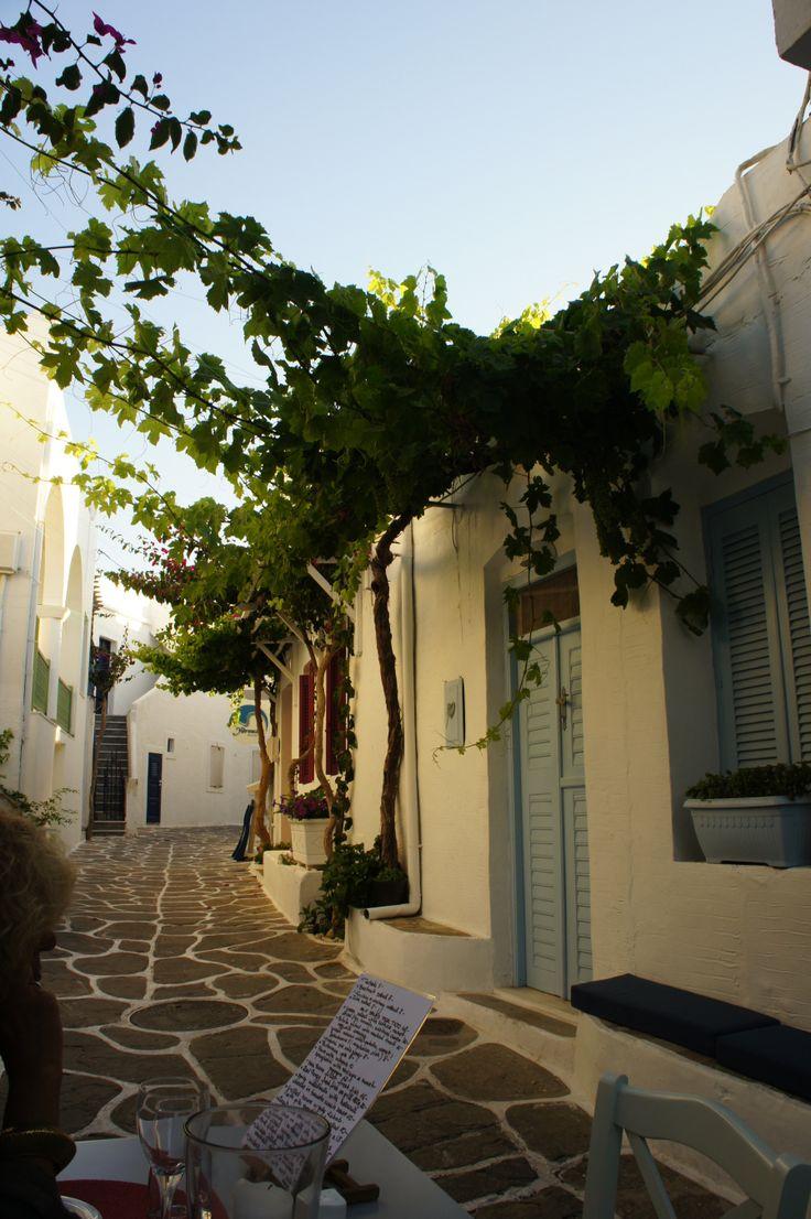 A beautiful street in Naousa, Paros