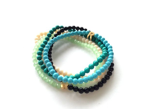 """Playa"" Turquoise, onyx or crystal beads. Customize your own bracelets! www.standoutboutique.com"