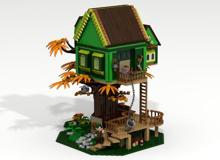 This latest endeavor is a collaborative project between me and another LEGO Ideas user, Nunki-psi! We wanted to propose a design for fantasy tree house that was beautiful to look at and also super-duper playable. It has tons of features. 250 emails and 50 file transfers later, we present Tinkerer's Tree House. Please consider going to LEGO Ideas, and supporting the project if you like it. #LEGO #LEGOIdeas #MOC
