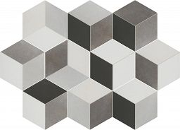 Płytka heksagonalna 3D Toscana Tridi Negro Bestile 25,8x29
