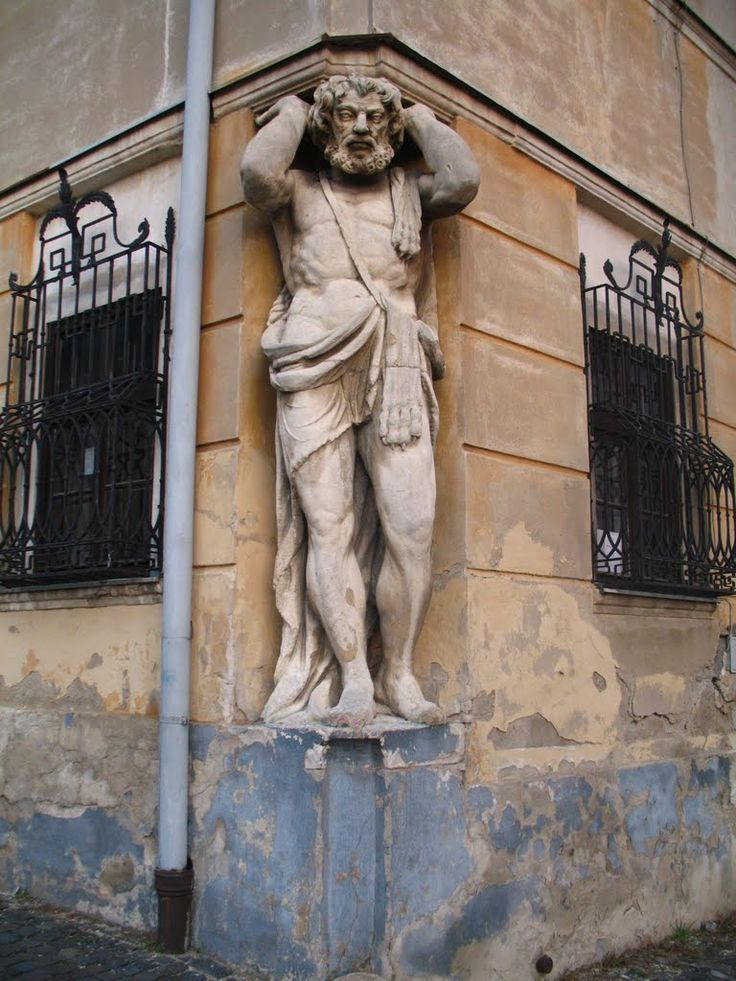 Statue of Corgon in Upper town Nitra