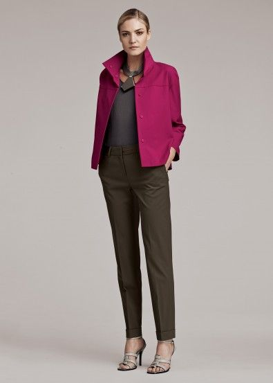 Gabardine Stretch Hara Jacket and Italian Stretch Wool Perry Pant- Like this color combination