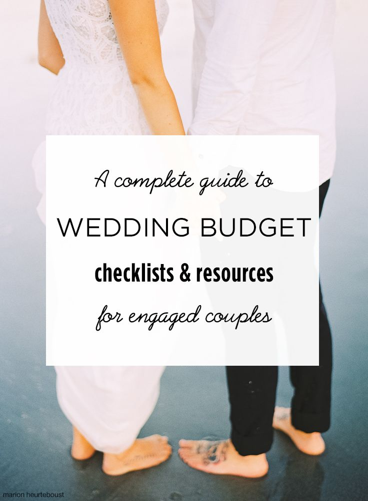 wedding budget checklist resources