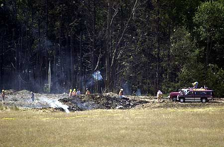9/11 pennsylvania crash | The impact of the crash of Flight #93 left almost no trace above ...