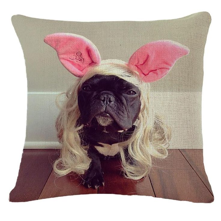Cushions Home Decor 3D french bulldog prints - ZillaStores