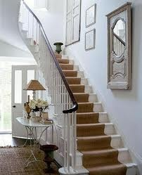 coir carpet stairs - White stair and banister