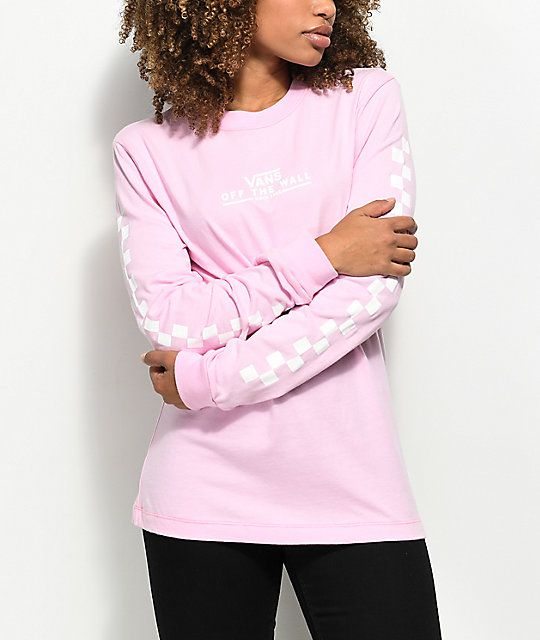 7d643b00f4 Vans Checker OTW Pink Long Sleeve T-Shirt in 2019